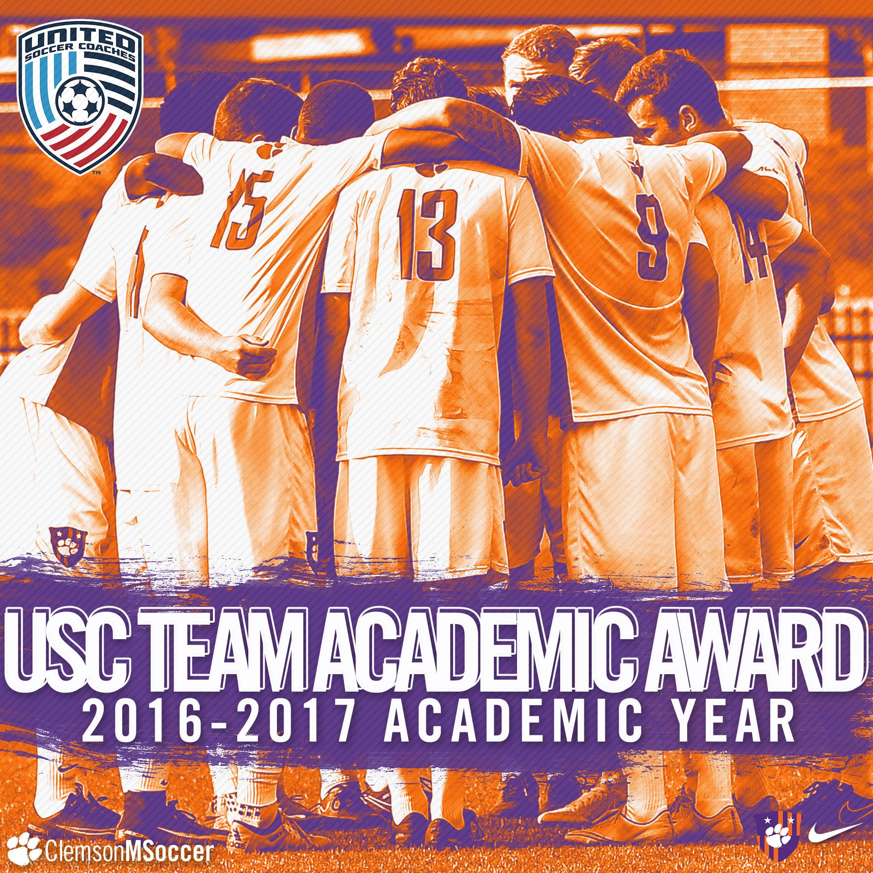 Men's Soccer Earns Team Academic Award