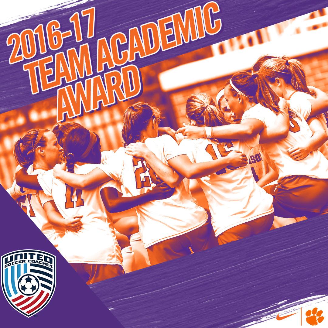 Clemson Earns Team Academic Award for 2016-17
