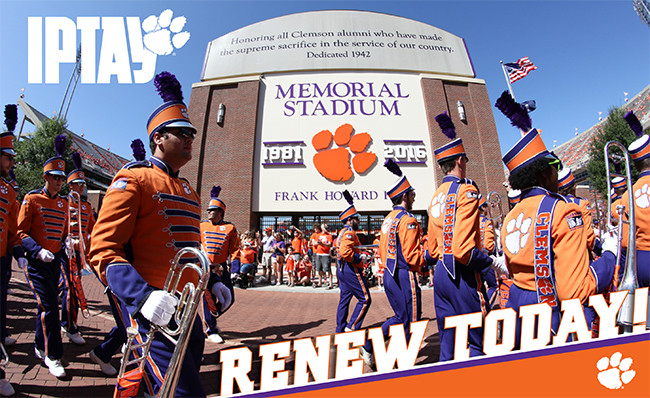 You've Got Mail From IPTAY! Renew For IPTAY 2018 Today!