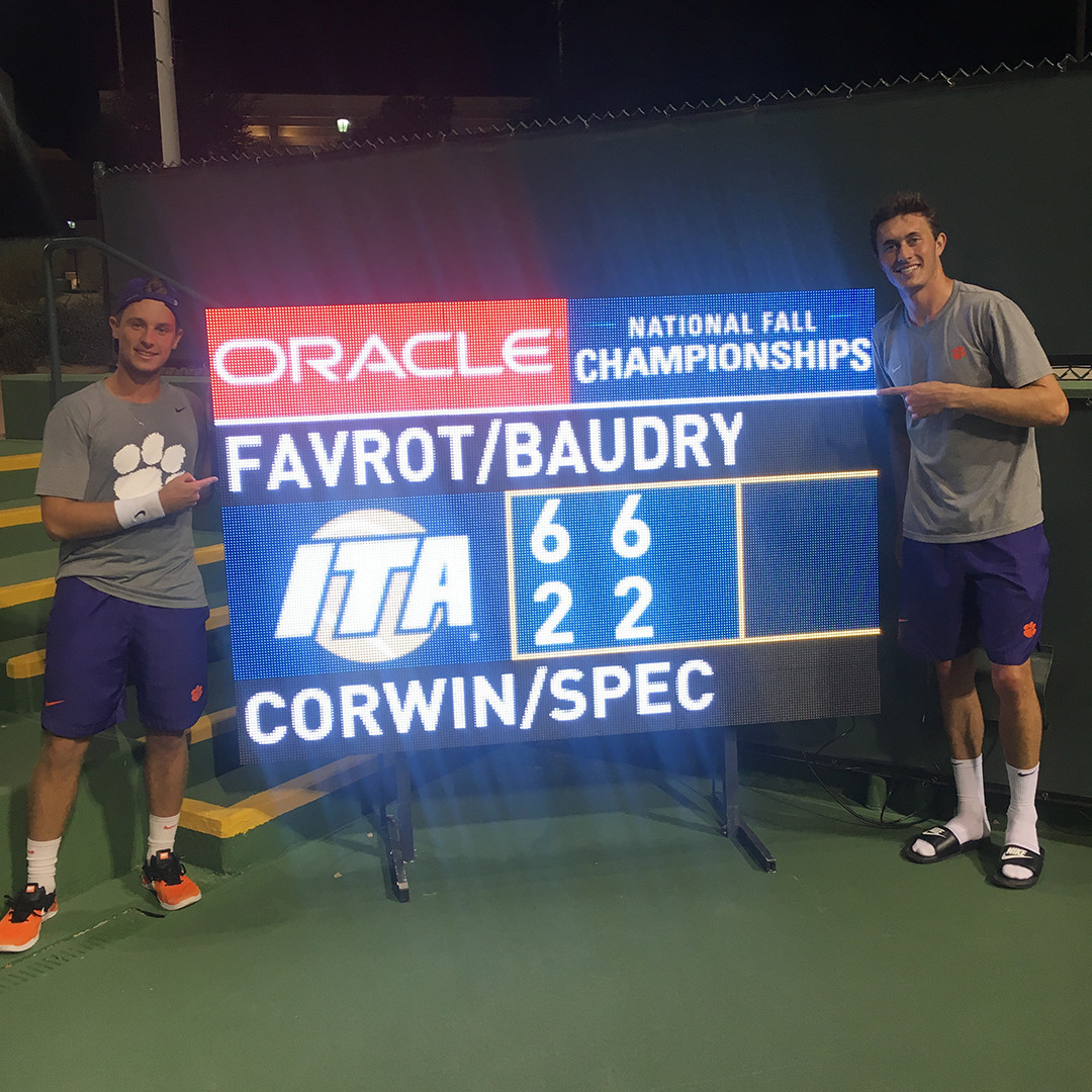 Favrot and Baudry Duo Advance to Round of 16 at Oracle ITA Fall National Championship