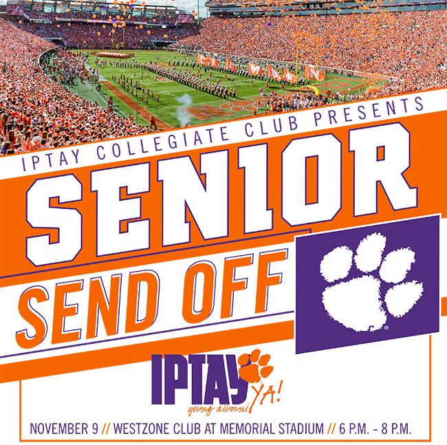 IPTAY Collegiate Club Senior Send-Off Set For Thursday, November 9