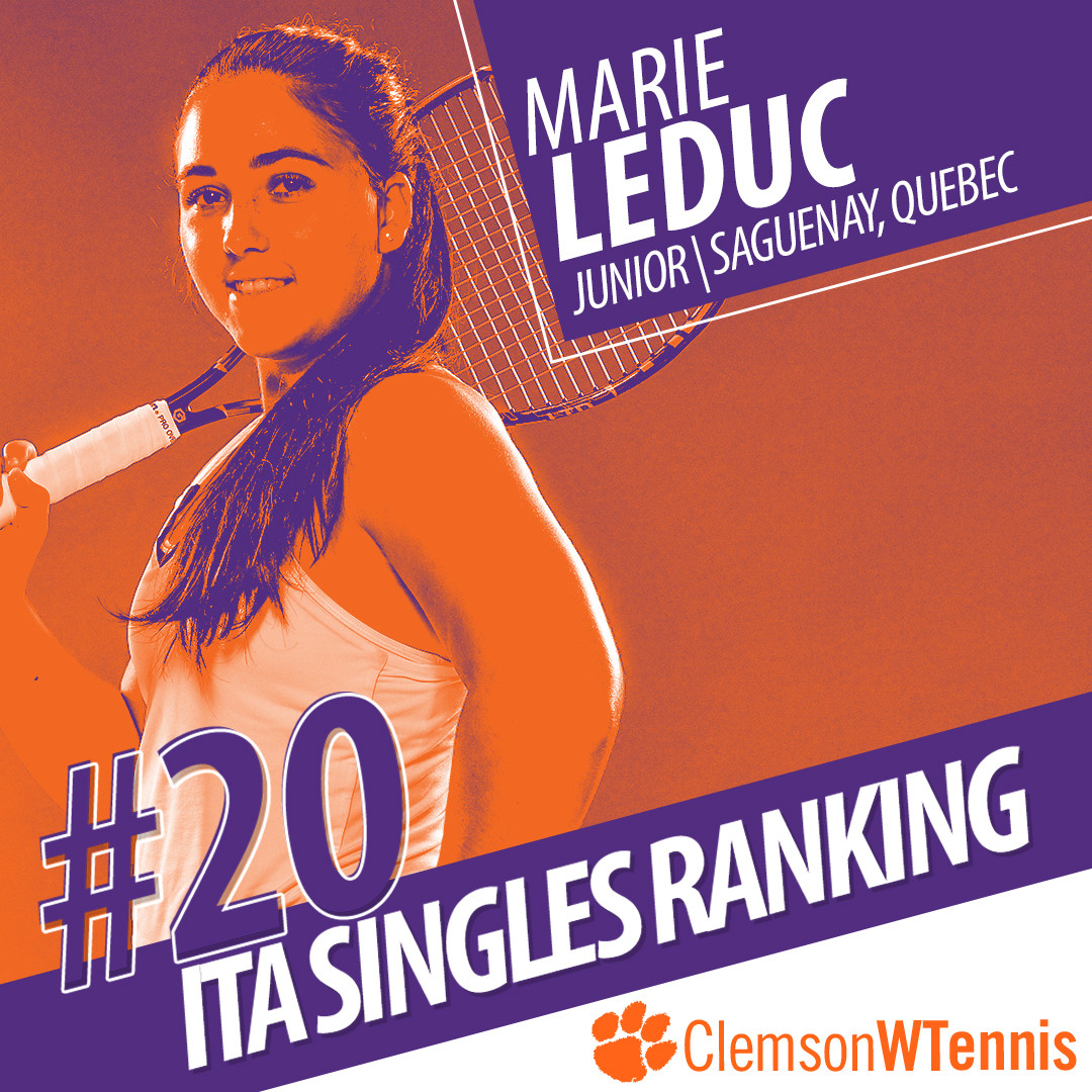 Leduc Ranked 20th Nationally in Singles