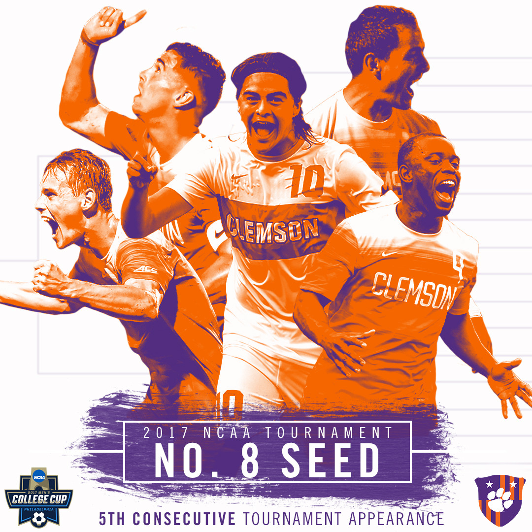 Clemson Earns No. 8 National Seed in 2017 NCAA Tournament