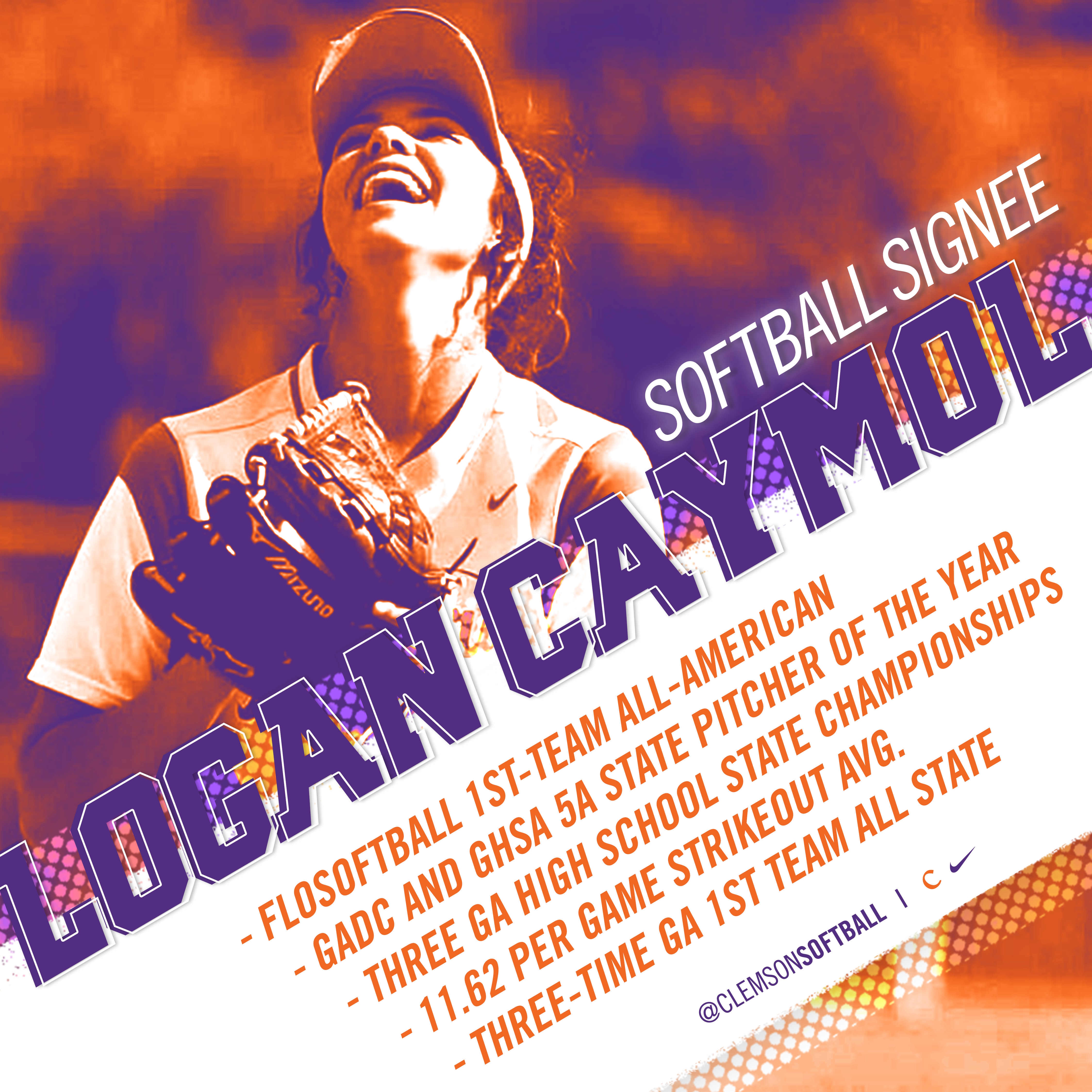 Logan Caymol Inks as First Softball Signee