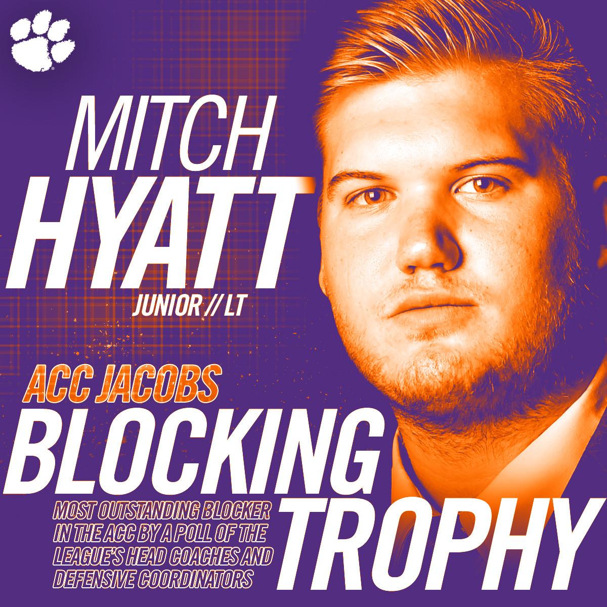 Hyatt Winner of Jacobs Blocking Trophy