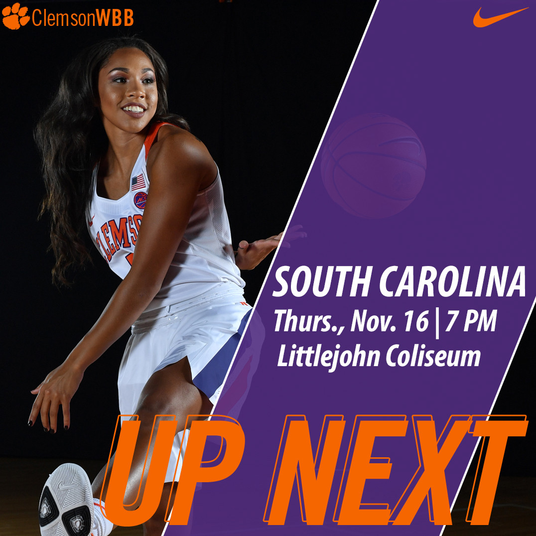 Tigers Host No. 4/2 South Carolina Thursday at Littlejohn Coliseum