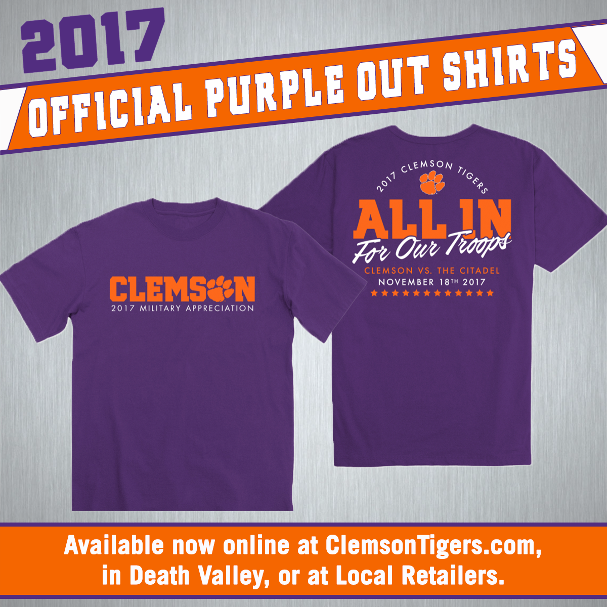 Tiger Fans Can Purchase Gear in Support of Military Appreciation Day