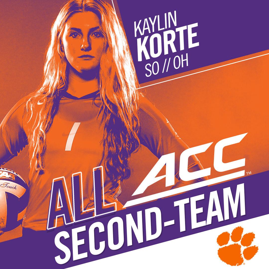 Korte Garners All-ACC Honors
