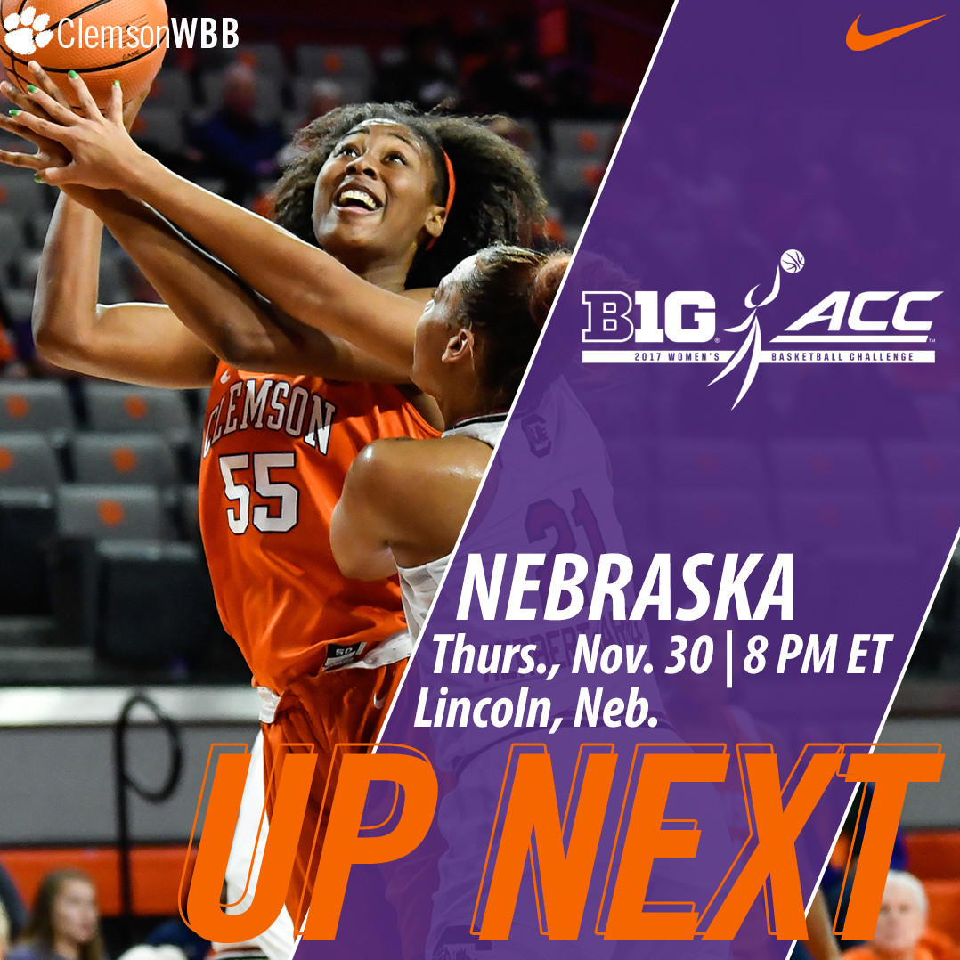 Clemson Travels to Nebraska for Big Ten/ACC Challenge Thursday