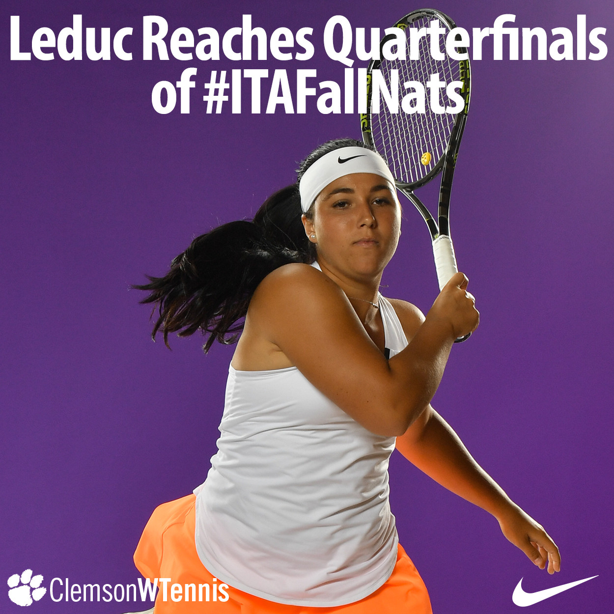 Leduc's Impressive Run at Oracle ITA National Fall Championships Concludes in Quarterfinals