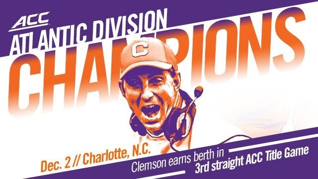 Clemson Third in College Football Playoff Poll