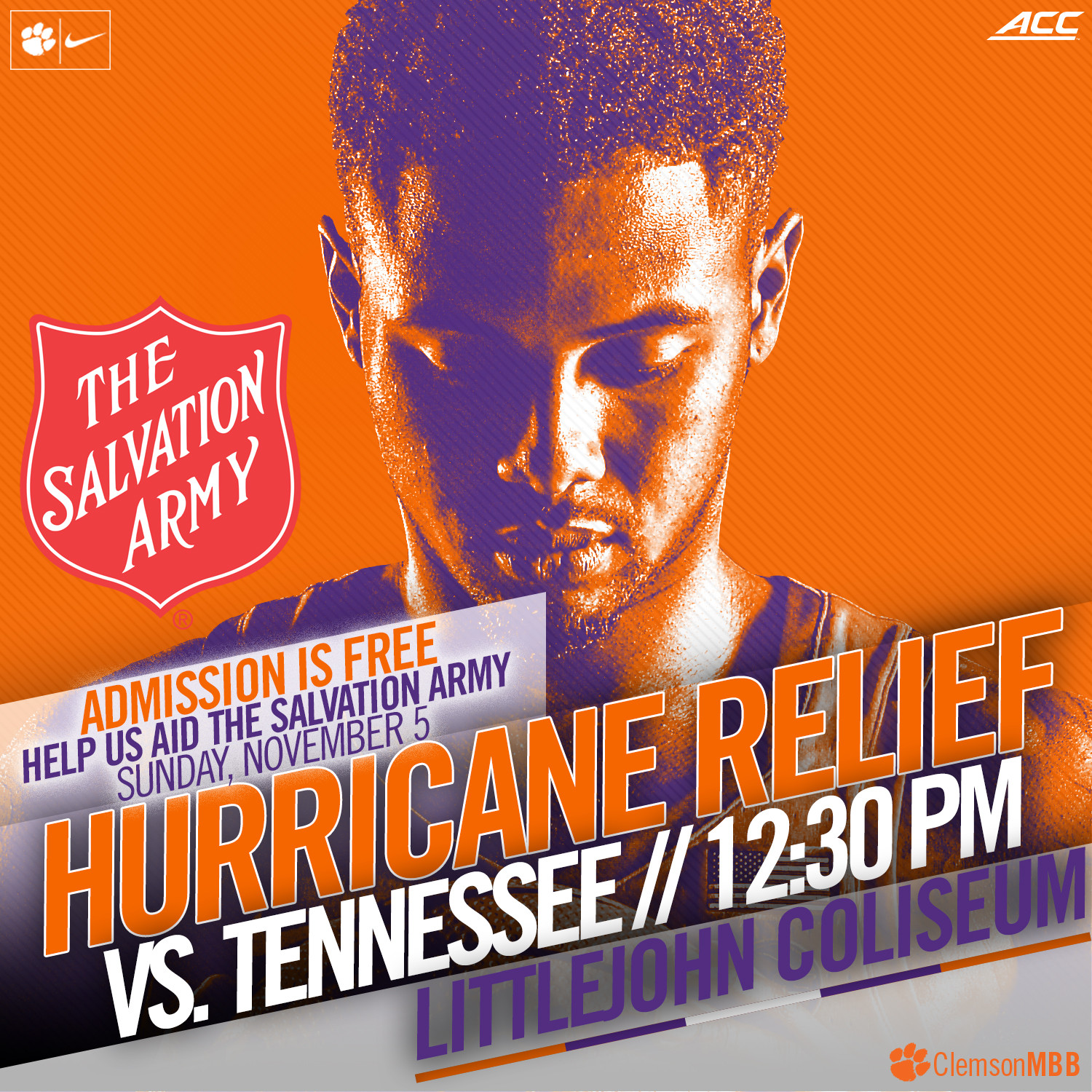 MBB to Host Tennessee in Charity Exhibition