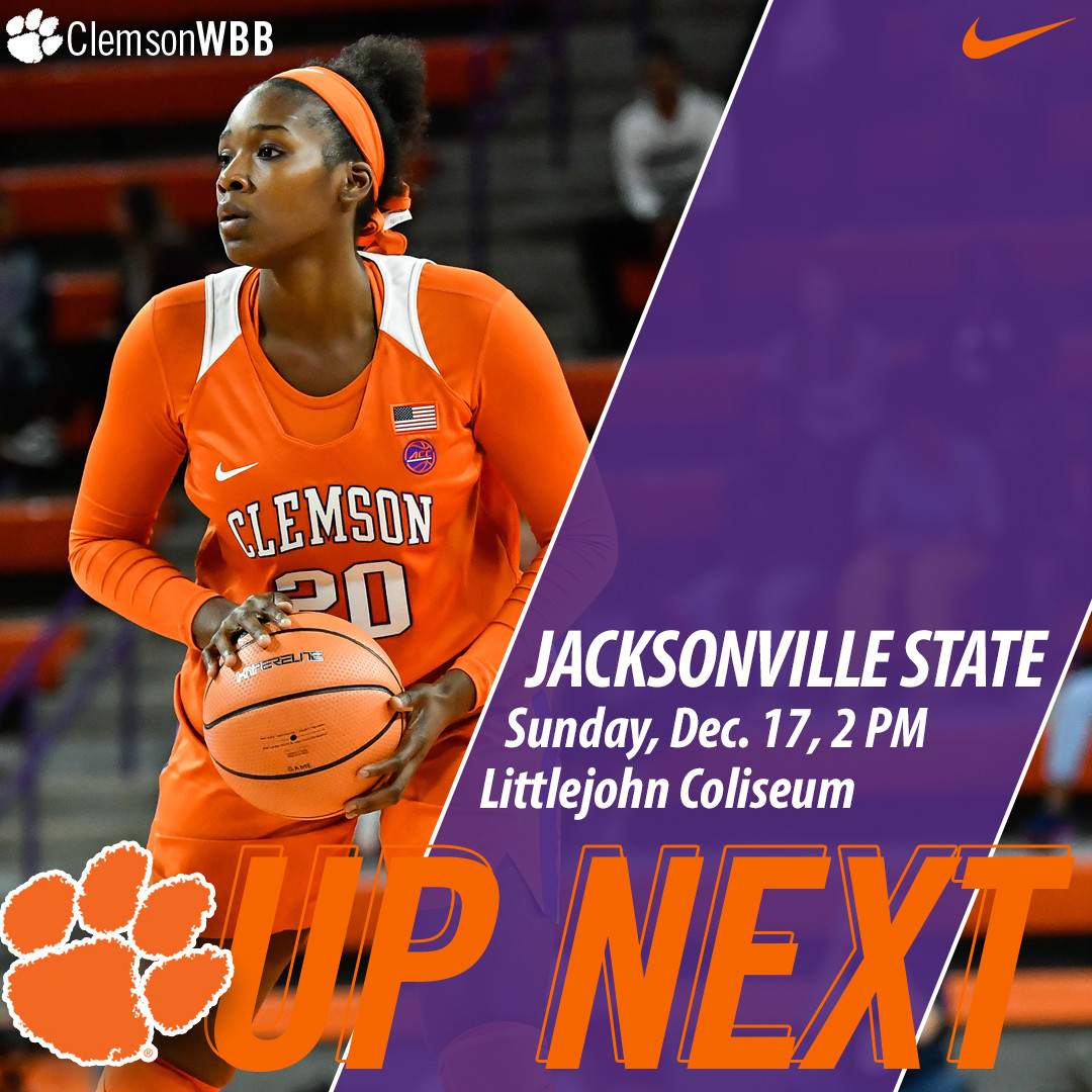 Clemson Hosts Jacksonville State Sunday at 2 PM