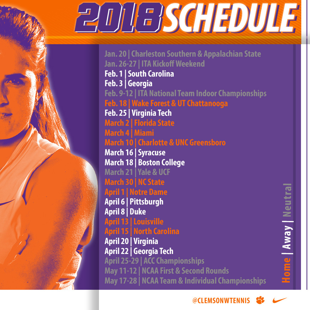 Tigers Finalize Spring 2018 Schedule