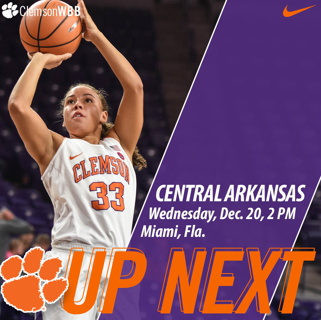 Clemson Travels to Miami for FIU Holiday Tournament Dec. 20 & 21