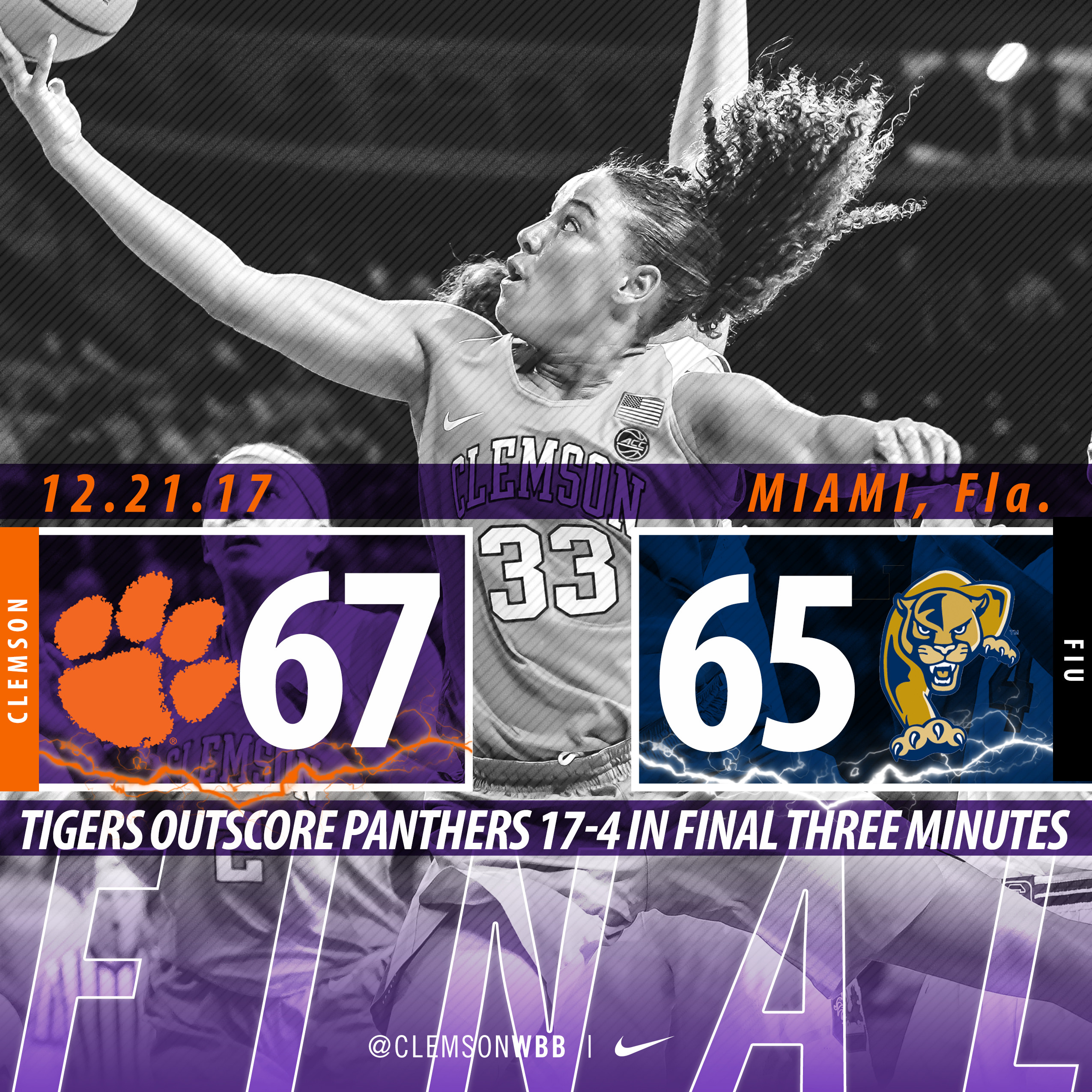 Tigers Fight for Exciting Comeback Win at FIU Thursday