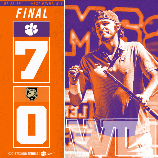 Tigers Earn Clean Sweep Over Army on Friday