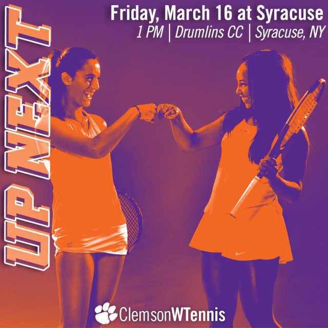 Clemson Faces Syracuse & Boston College on the Road this Weekend