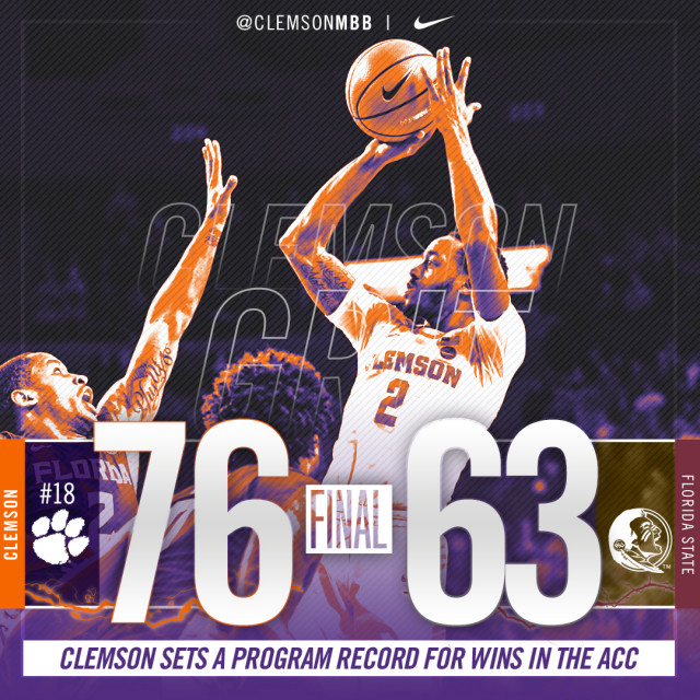 No. 18 Tigers Down FSU for Historic 11th ACC Win
