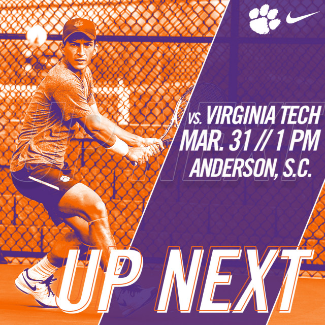 Tigers Set to Face Virginia Tech Saturday at AU Tennis Complex