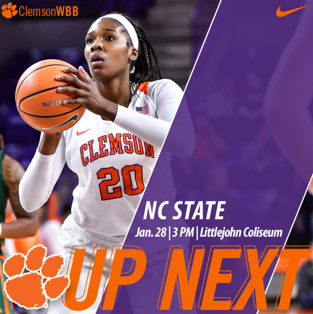Tigers Host NC State Sunday at 3 PM at Littlejohn