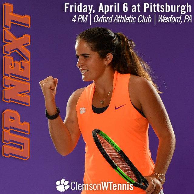 Clemson Travels to Pittsburgh Friday, #3 Duke Sunday