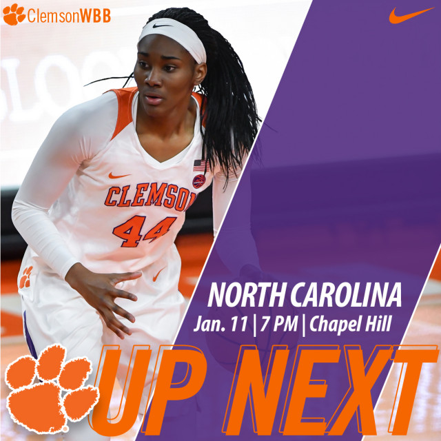 Clemson Faces North Carolina in Chapel Hill Thursday