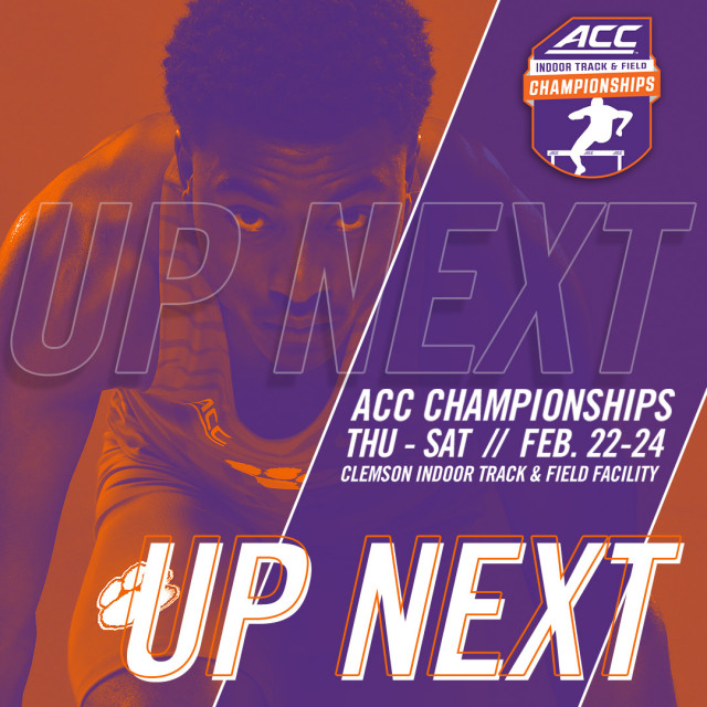 Tigers Host ACC Championships Feb. 22-24