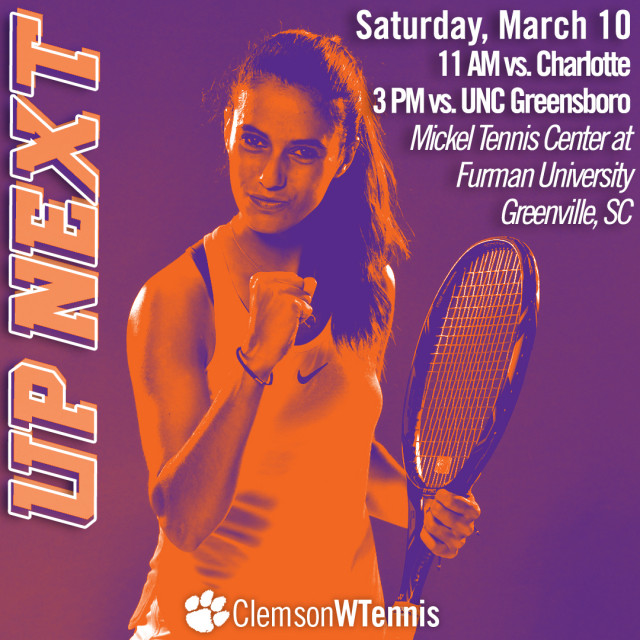 Tigers Host Charlotte & UNC Greensboro in Greenville Saturday