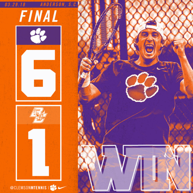 Clemson Defeats Boston College 6-1