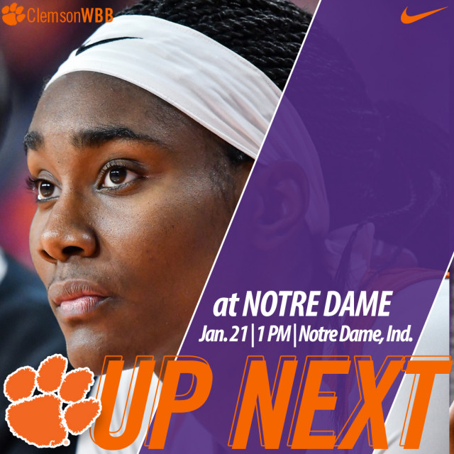 Tigers Face No. 5/2 Notre Dame on the Road Sunday