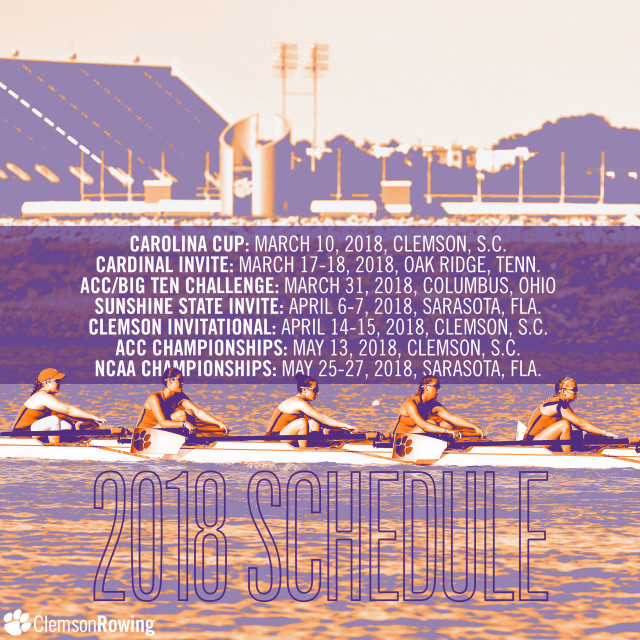 Rowing Announces 2018 Spring Schedule