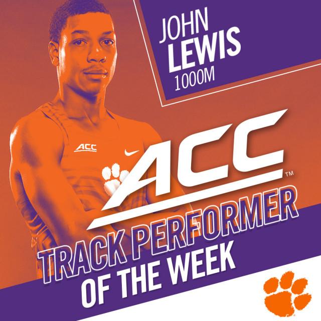 Lewis Named ACC Track Performer of the Week