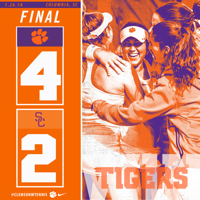 Tigers Complete Come-From-Behind Win Over Southern California in ITA Kick-Off