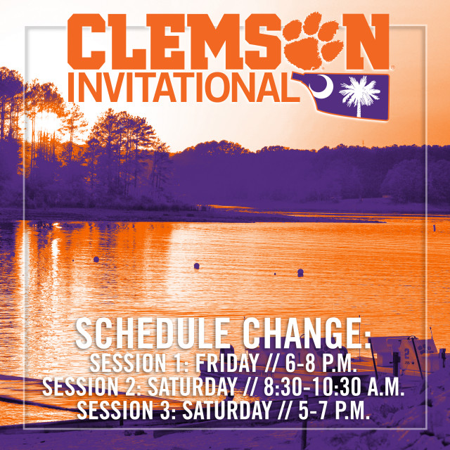 Rowing Shifts Clemson Invitational Schedule