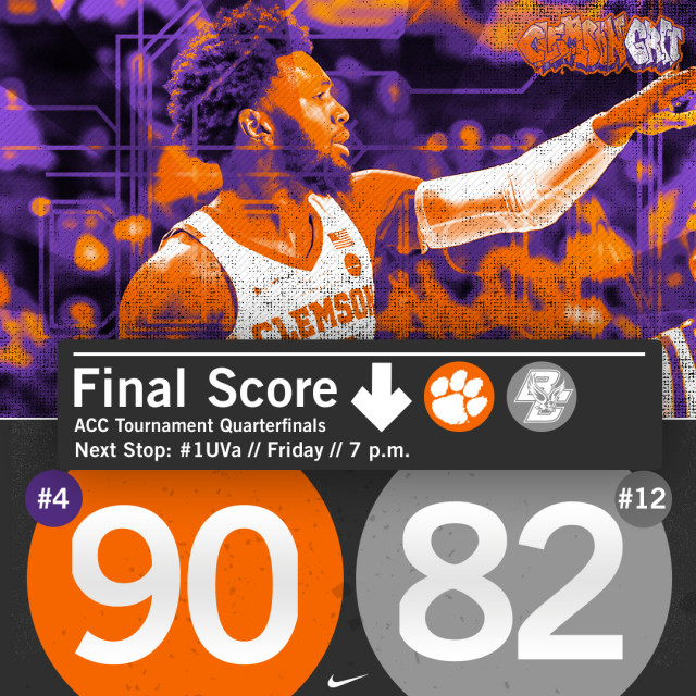 MBB Advances in ACC Tourney with 90-82 Win