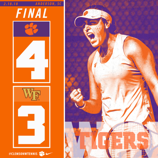 Clemson Upsets No. 11 Wake Forest, Tops Chattanooga on Sunday