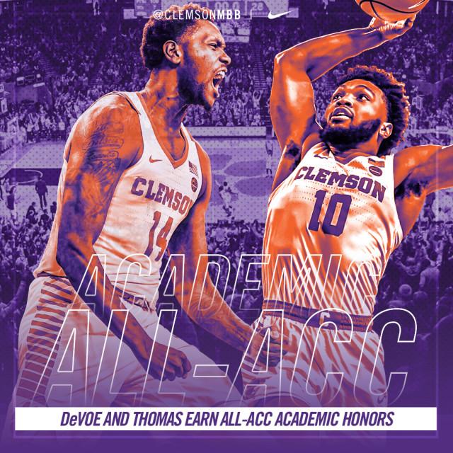 DeVoe, Thomas Named to All-ACC Academic Team