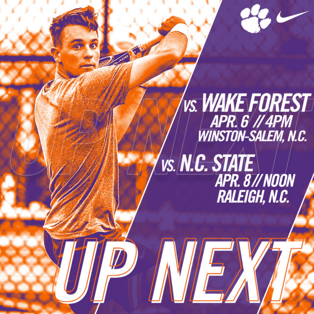 Clemson Faces Wake Forest & NC State on the Road this Weekend