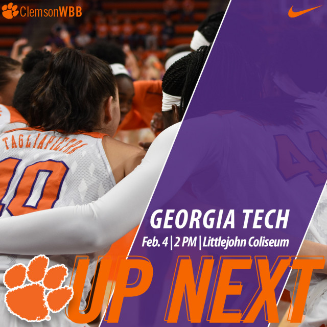 Tigers Host Georgia Tech Sunday; #NGWSD Event Prior to Game