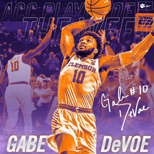 Gabe DeVoe Named ACC Player of the Week