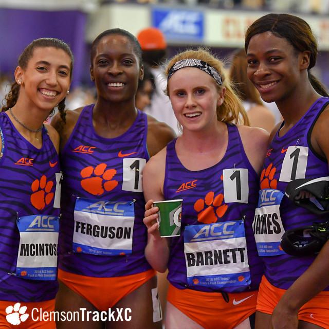 Women Set Program Record in DMR at ACC Championships Thursday