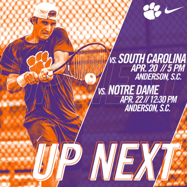 Tigers Wrap Up Regular Season at Home Against South Carolina Friday and Notre Dame Sunday