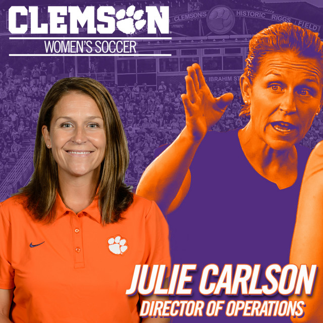 Carlson Returns to Clemson Women's Soccer Program as Director of Ops