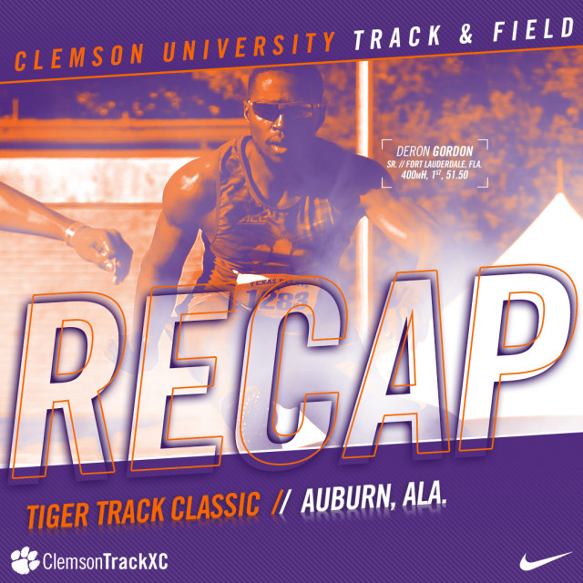 Gordon, Lewis Place First at Auburn Saturday