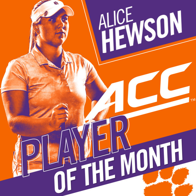 Hewson Named ACC Golfer of the Month