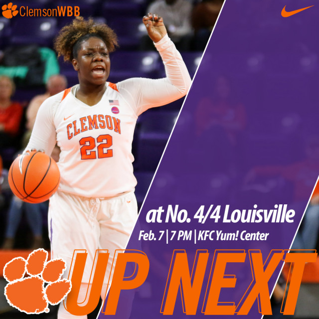 Clemson Faces No. 4/4 Louisville on the Road Wednesday