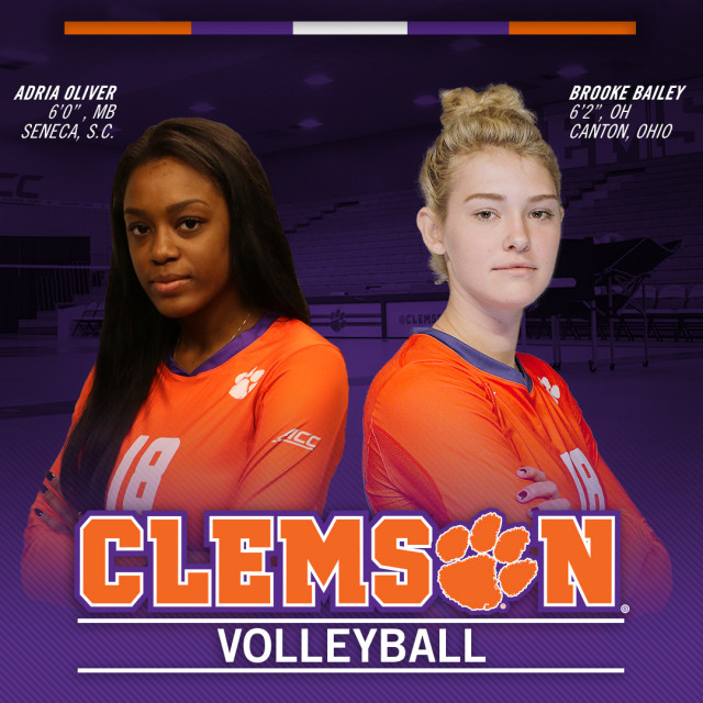 Volleyball Adds Bailey, Oliver to 2018 Roster