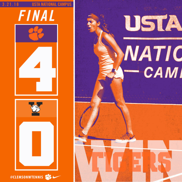 Clemson Splits Two Matches at USTA National Campus Wednesday