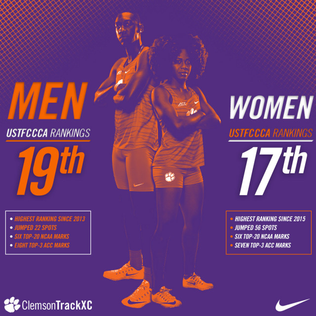 Tigers Ranked in Top-20 by USTFCCCA
